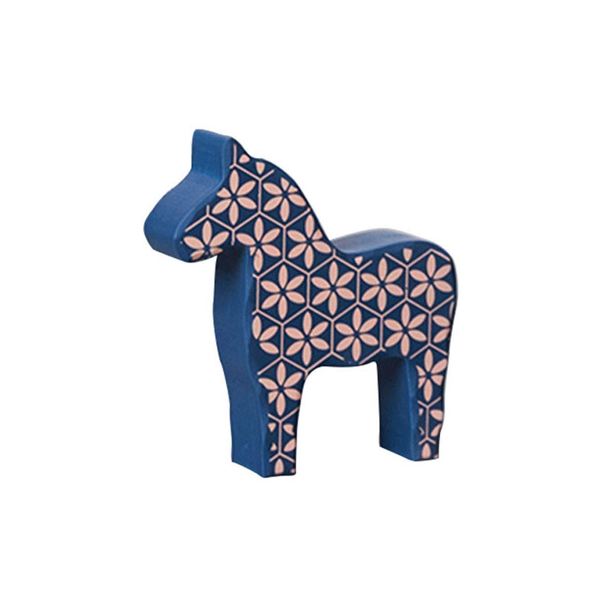 Amazoncom Lkxharleya Wooden Swedish Dala Horse Figurine Handmade