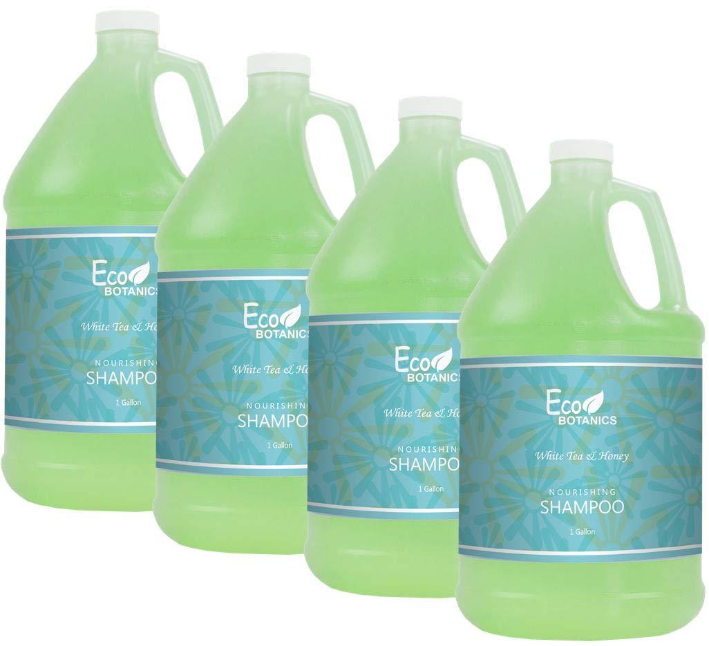 Eco Botanics Hotel Shampoo | 1 Gallon | Designed to Refill Soap Dispensers | by Terra Pure (Set of 4) by Terra Pure