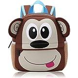 Vox Tier Kinderrucksack Kindergarten Rucksack für Kleinkinder Mädchen Jungen Babyrucksack Wasserdicht (Affe)