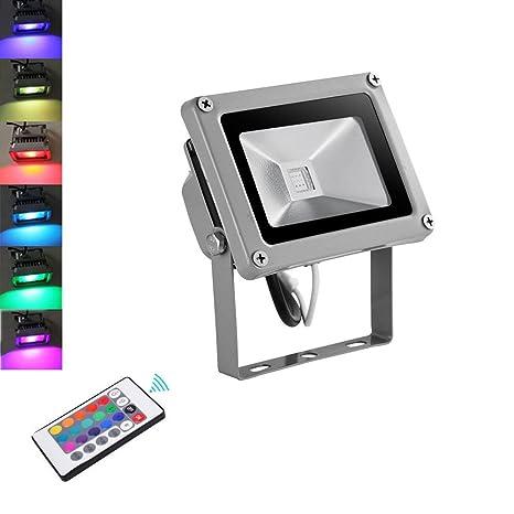 5X 50W RGB LED Fluter Mit Fernbedienung Außen Strahler Farbwechsel Lampe IP65