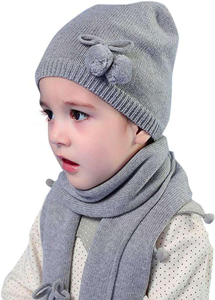 Vivobiniya Baby Boy Winter Hat Scarf Gloves 3pcs//Set Kid boys Knit hats , blue 0-6m 14.9-16.5in