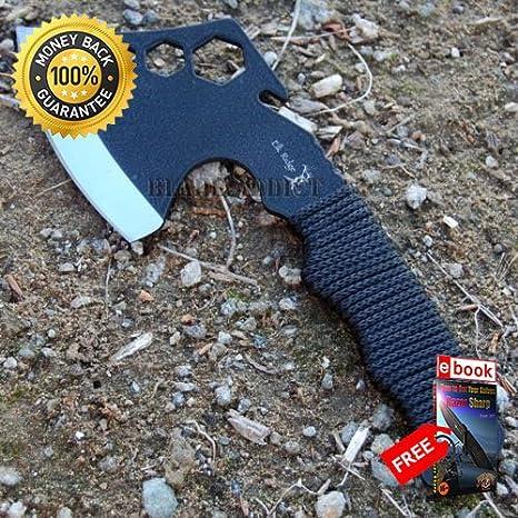 9 5'' ZOMBIE SURVIVAL TOMAHAWK AXE BATTLE Hatchet knife