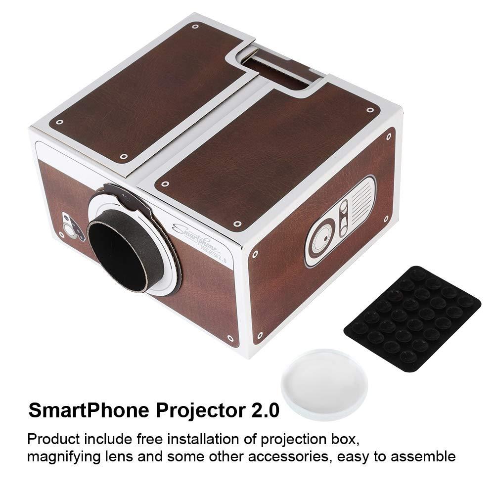 Mini proyector, Mini generador de Bricolaje portátil casero de ...