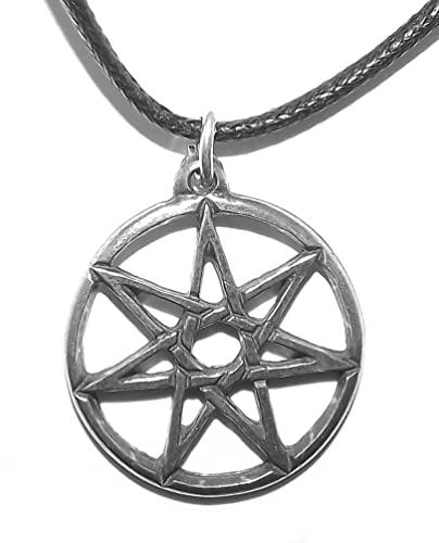 Heptagram pendant necklace 7 seven point fairy star amazon heptagram pendant necklace 7 seven point fairy star aloadofball Choice Image