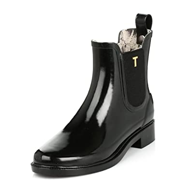 e901197168d3b7 Ted Baker Womens Black Lyran Chelsea Welly Boots  Amazon.co.uk  Shoes   Bags