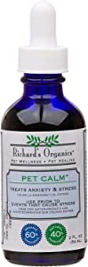 Richard's Organics Pet Calm - Naturally Relieves Stress and Anxiety in Dogs and Cats - 100% Natural, Drug-Free, Settles Nerves and Reduces Hyperactivity