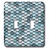 3dRose LSP_267058_2 Sparkling Teal Luxury Elegant Mermaid Scales Glitter Effect Artprint Toggle Switch,