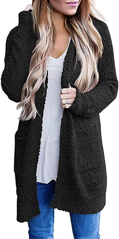 Women Open Knitted Sweater Casual Long Sleeve Cardigan Jacket Smart Coat Top