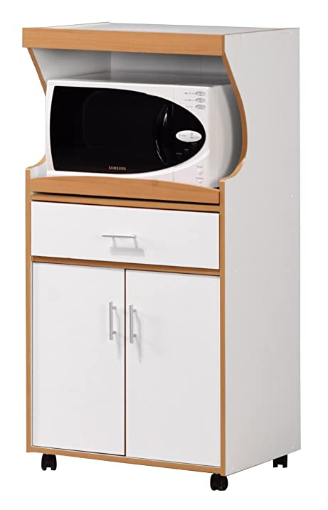 Amazon.com - Home Basics KT42195 Kitchen Cabinet Microwave Trolley ...