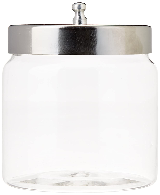 Grafco Glass Storage Jars with Aluminum Lids, 4x4