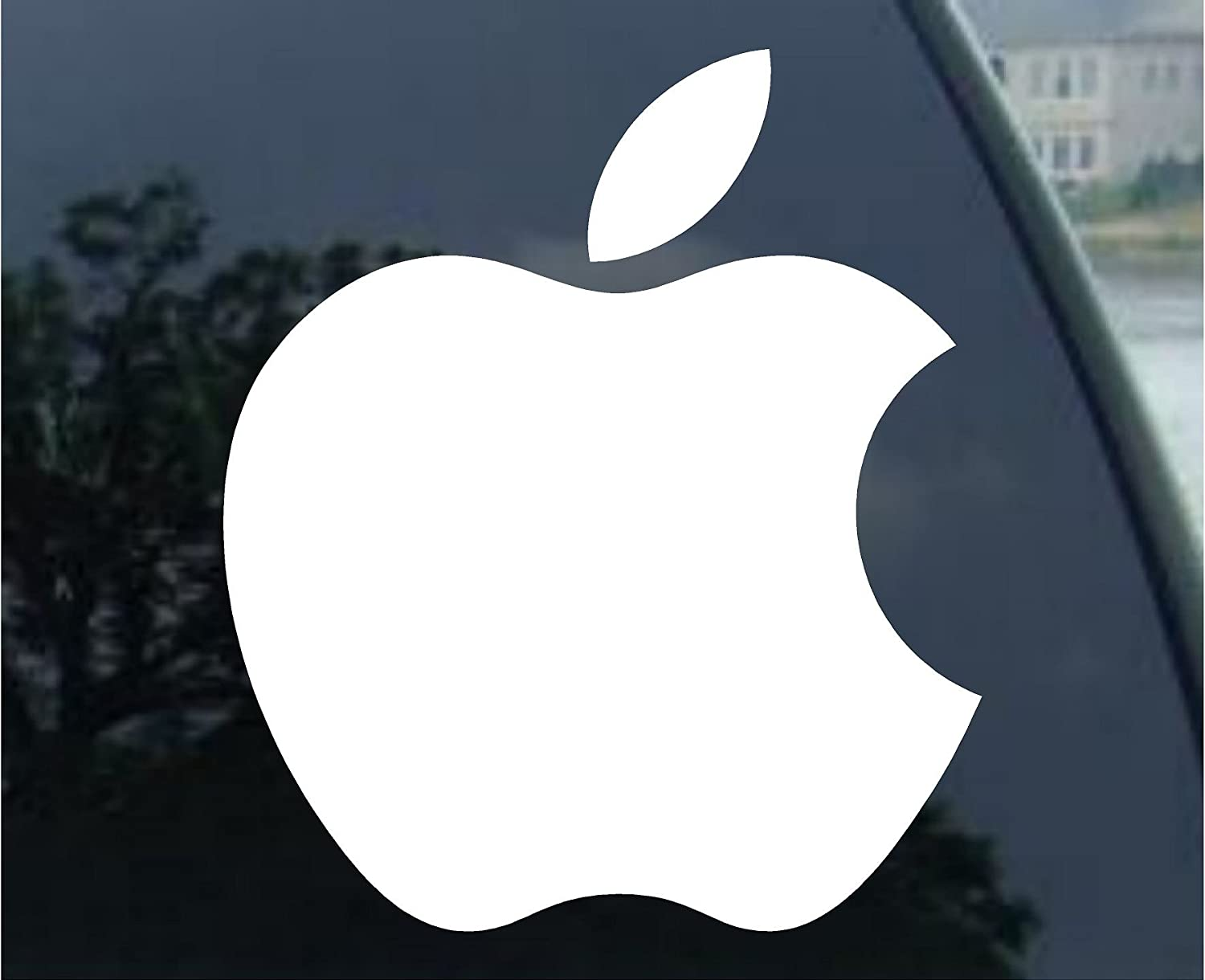 Amazon com 2 apple logo die cut vinyl decal sticker 4 white automotive