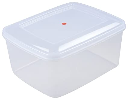 98f15df87240 Siva Homes & Naturals Large Plastic Container Box, 23L (White)