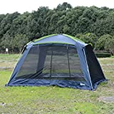 Outsunny 12'L x 12'W Mesh Portable Outdoor Screen House Shelter - Dark Blue/Green
