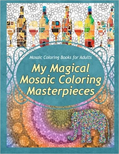Amazon.com: Mosaic Coloring Books for Adults My Magical Mosaic ...