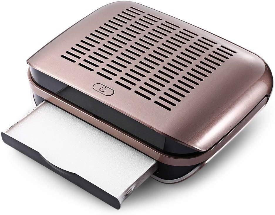 Eléctrico Uñas Polvo Coleccionista Fuerte Poder Aspiradora Manicura Pedicure Polvo Succión Máquina de uñas Ventilador para Uñas Art Salón,Brown: Amazon.es: Bricolaje y herramientas