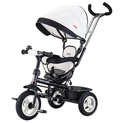Amazon.com: Tricycle Kids Trike Children Bicycle Hand Push Baby Carriage Child Bicycle Infant Ride-On Bike (Color : Khaki): Home & Kitchen