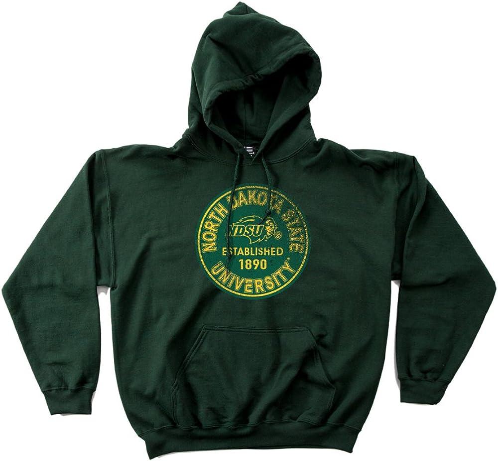 NCAA North Dakota State Bison 50//50 Blended 8-Ounce Vintage Circle Hooded Sweatshirt