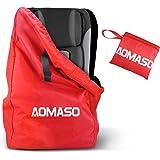 Aomaso Reisetasche Rucksack mit Band, wasserabweisend für Kindersitze, Rollkoffer- Rot