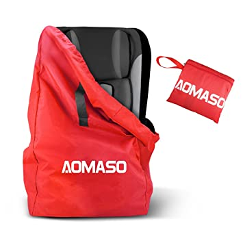 Aomaso Car Seat Travel Bag Gate Check Storage With Comfortable Padded Shoulder Straps