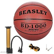 kilofly Beasley Basketball Evolution Indoor Outdoor Game Ball Net + Air Pump Set