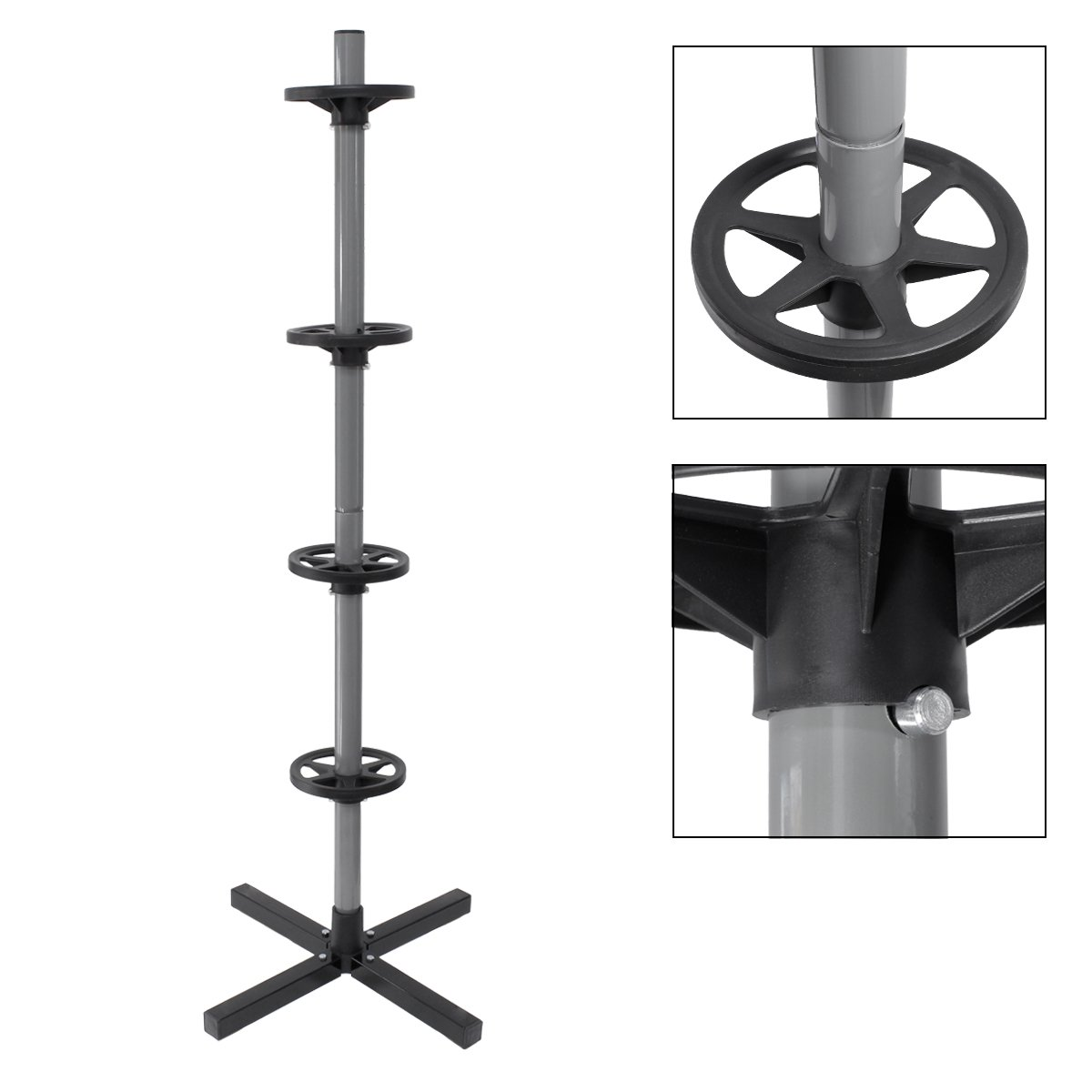 ECD-Germany Support de Jante pour Une Largeur jusqu/à 295 mm 45 x 45 x 143,5 cm Capacit/é de Charge maximale de 100 kg pour 4 pneus