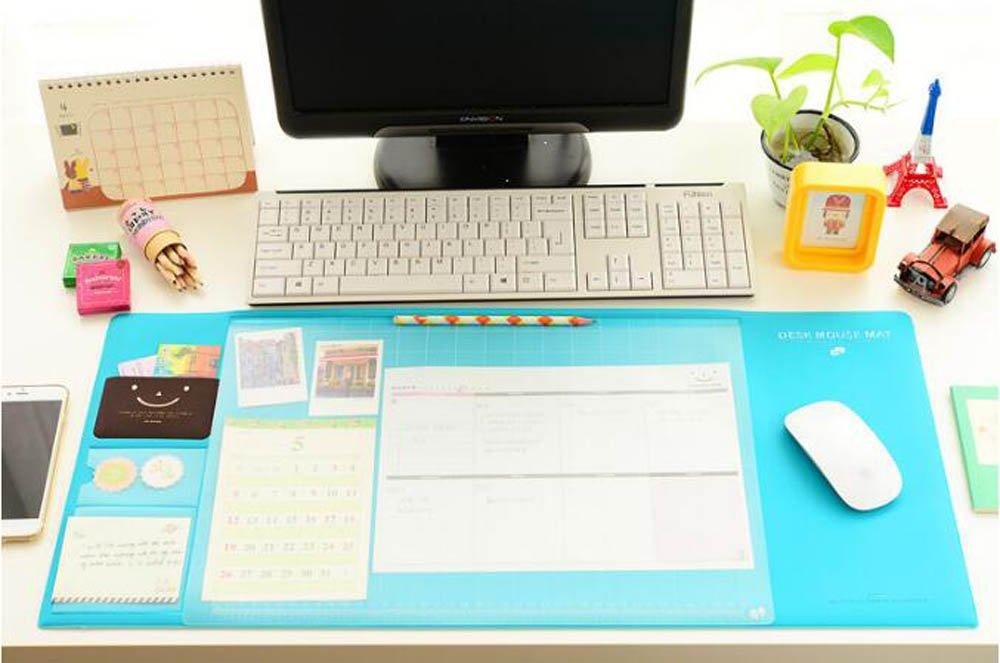 Tappetino Impermeabile Multifunzione per mouse Carta assorbente 70x32cm Ufficio stuoia Antiscorrimento Mouse Pad con Sticker Phone Support XXL (Porpora) Trinny FR001