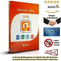 Microsoft Office 2019 Professional Plus pour 1PC ( seulement pour windows 10 ) | Licence perpétuel | Pas d'abonnement | Licence numérique originale Envoyé dans un jour par E-mail