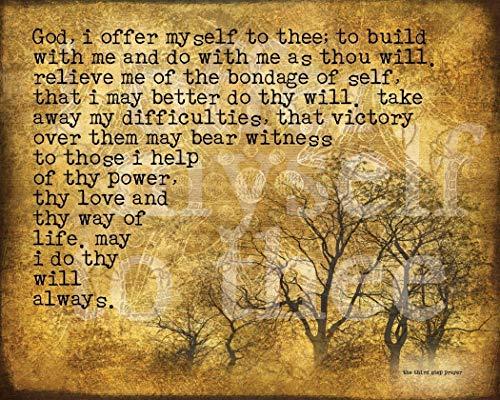 The Third Step Prayer ~ Inspirational Art Print of Original Artwork by Polly PRB