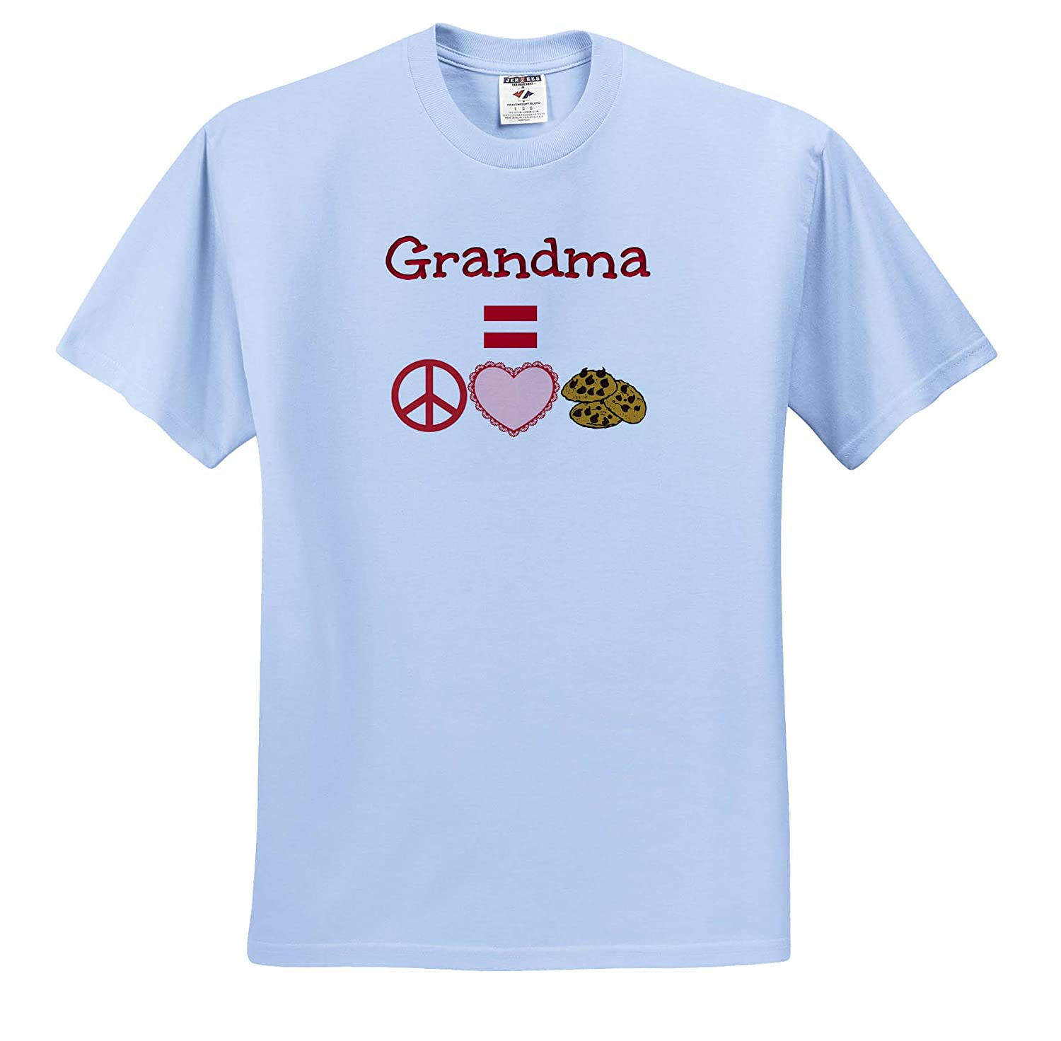 Image of Grandma Equals Peace Love Cookies 3dRose Carrie Merchant Quote T-Shirts