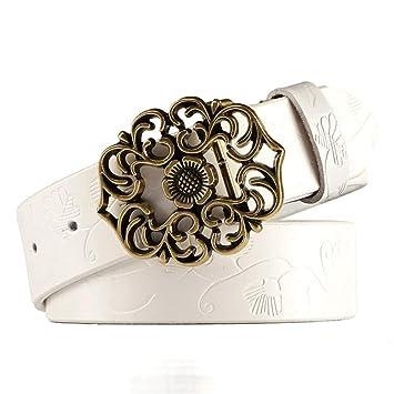 Styhatbag Cinturón de Mujer para Mujer Cinturones de Vaqueros de Cuero  Genuino de la Flor de Las Mujeres Cinturones para Mujeres diseño en Relieve  Cinturón ... 7935791de4a8