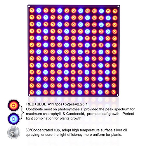 61QMiBcrEUL - Roleadro Panel Grow Light Series,45W LED Plant Grow Light with Red Blue Spectrum for Growing&Flowering
