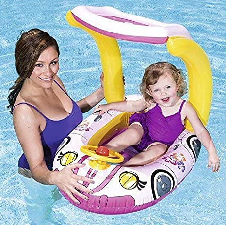 Bestway Shaded Play Inflatable Kids Swimming Paddling Red Pools Garden Outdoor