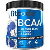 Fitcode Ultra Premium BCAAs with 5G of Pure BCAAs with Proven 2:1:1 Ratio of Amino Acids to Help Post Workout Recovery…