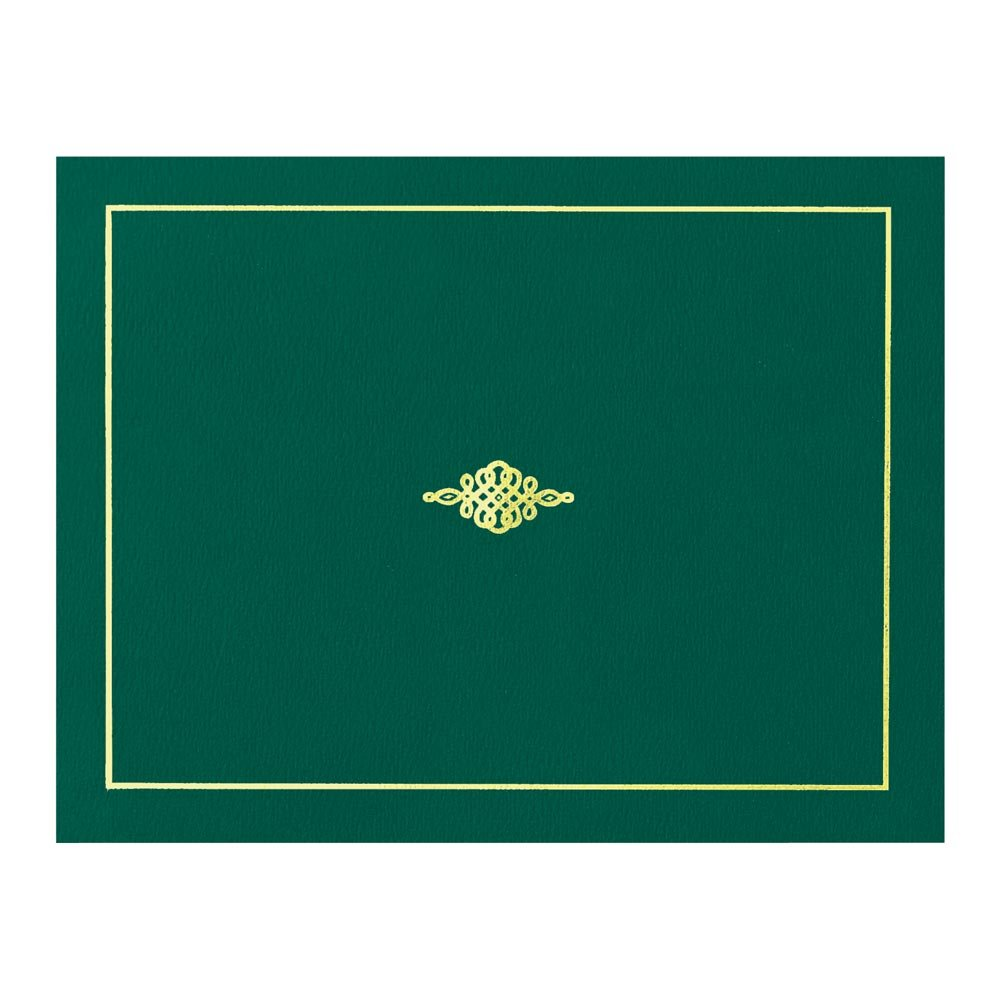 Certificate Jacket with Gold Foil Crest, 9-½ x 12 Inch Folded, Holds 8-½ x 11 Inch Certificates, 10 Count