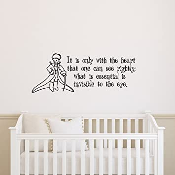 Amazon.Com: Little Prince Wall Decal Quote It Is Only With The