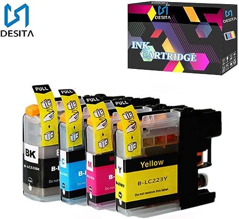 S DESITA Compatible Cartucho de Tinta Reemplazo para Brother LC223 ...