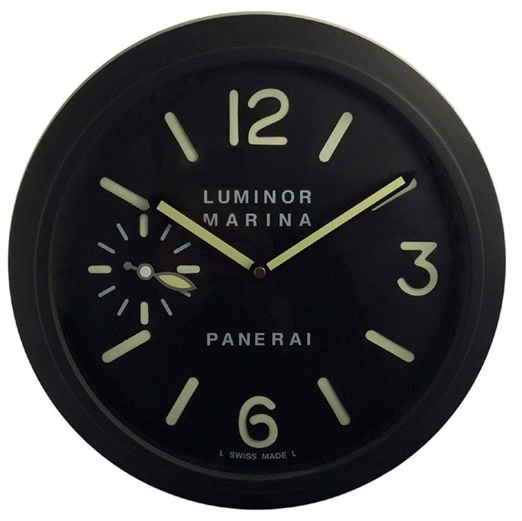Panerai Luminous Silent Sweep Wall Clock, Black