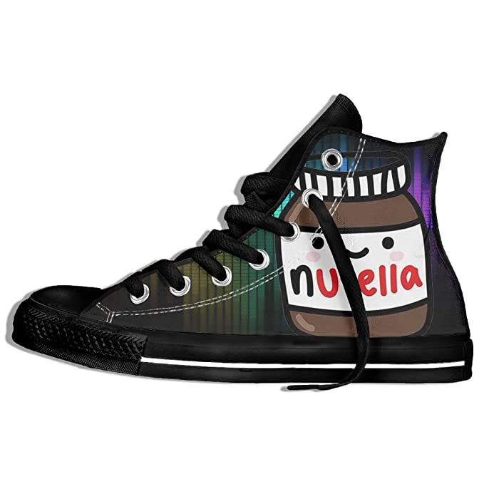 Ruby Fondos Tumblr Nutella High Top Classic Casual Canvas Fashion Shoes Sneakers For Women & Men