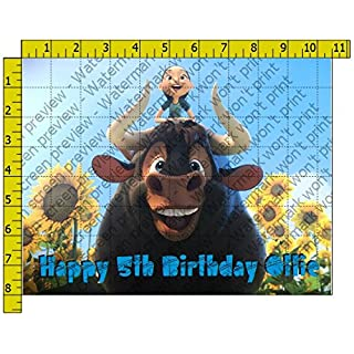 Ferdinand Personalized Edible Frosting Image 1/4 sheet Cake Topper