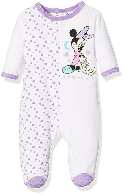 b527f8c01b962 Pyjama velours bébé fille Minnie Rayé Rose et Violet de 3 à 23mois (23 mois