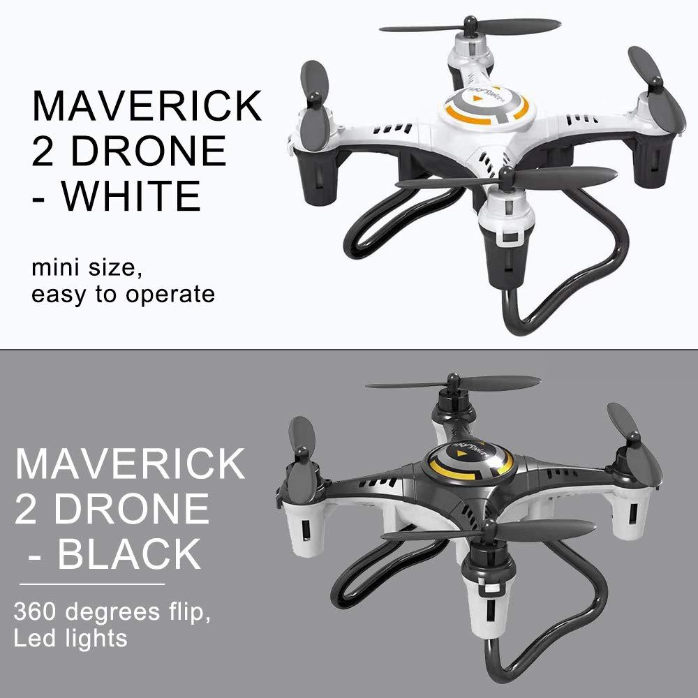 Ajcoflt JX815-2 RC Mini Drone para ni/ños 2.4G 4CH RC Quadcopter Toy Modo sin Cabeza Flip de 360 Grados para Principiantes 2 bater/ías