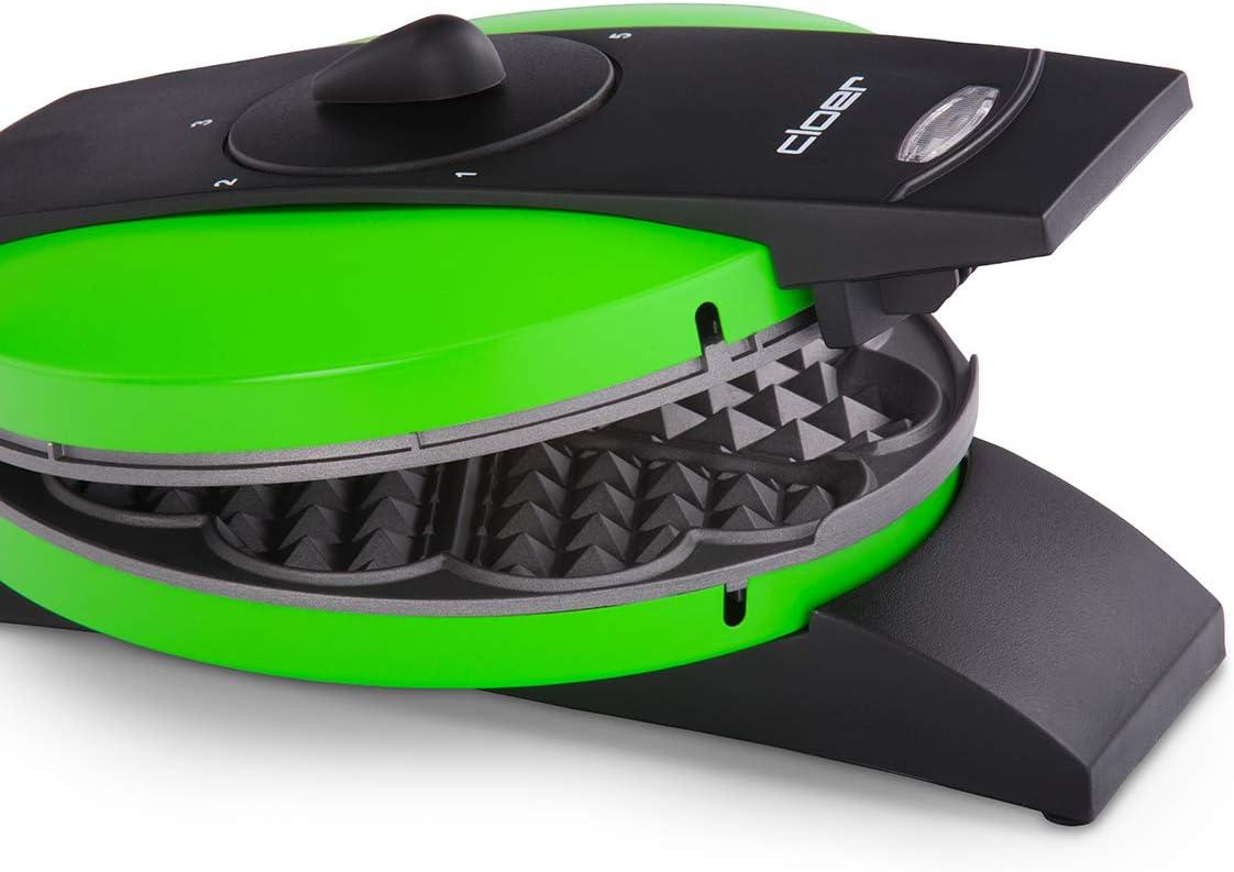 grün Herzwaffel 930W NEU Cloer Waffeleisen 1627-14