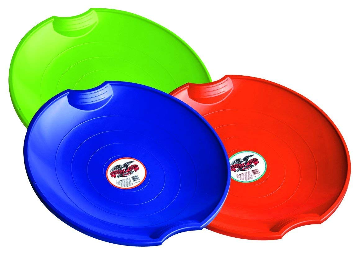 Flexible Flyer 3-Pack Snow Saucer Sleds. 26 Inch Round SNO Disc Slider (3 Units) by  (Image #1)