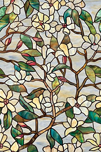 Summer Magnolia Glass Decorative Window Film by ARTSCAPE