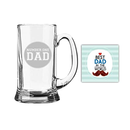Buy Birthday Gifts For Father Engraved No 1 Dad Beer Mug For Dad 580 Ml By Giftsmate Online At Low Prices In India Amazon In