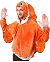 Adult Clown Fish Costume, Size Adult Standard