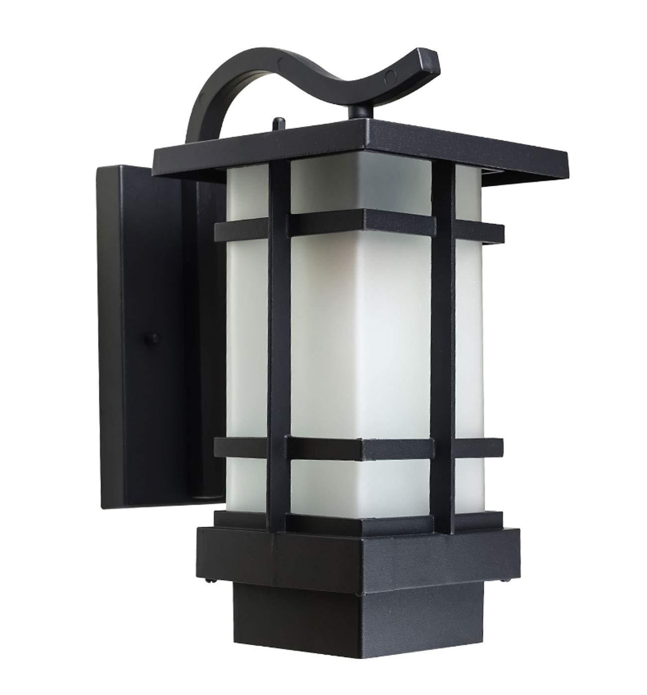 屋外防水壁ランプレトロ屋外ランプ庭の通りランプバルコニー照明ドアドアウォールランプテラスランプサイズ16 * 24 * 33cmブラック B07JZCGFVM