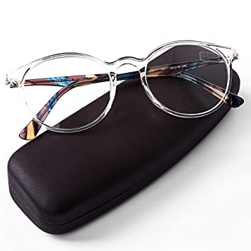 DOOViC Italy Design Fashion Reading Glasses for Women Men Stylish Clear  Frames Readers with Case + 05ecb5e877