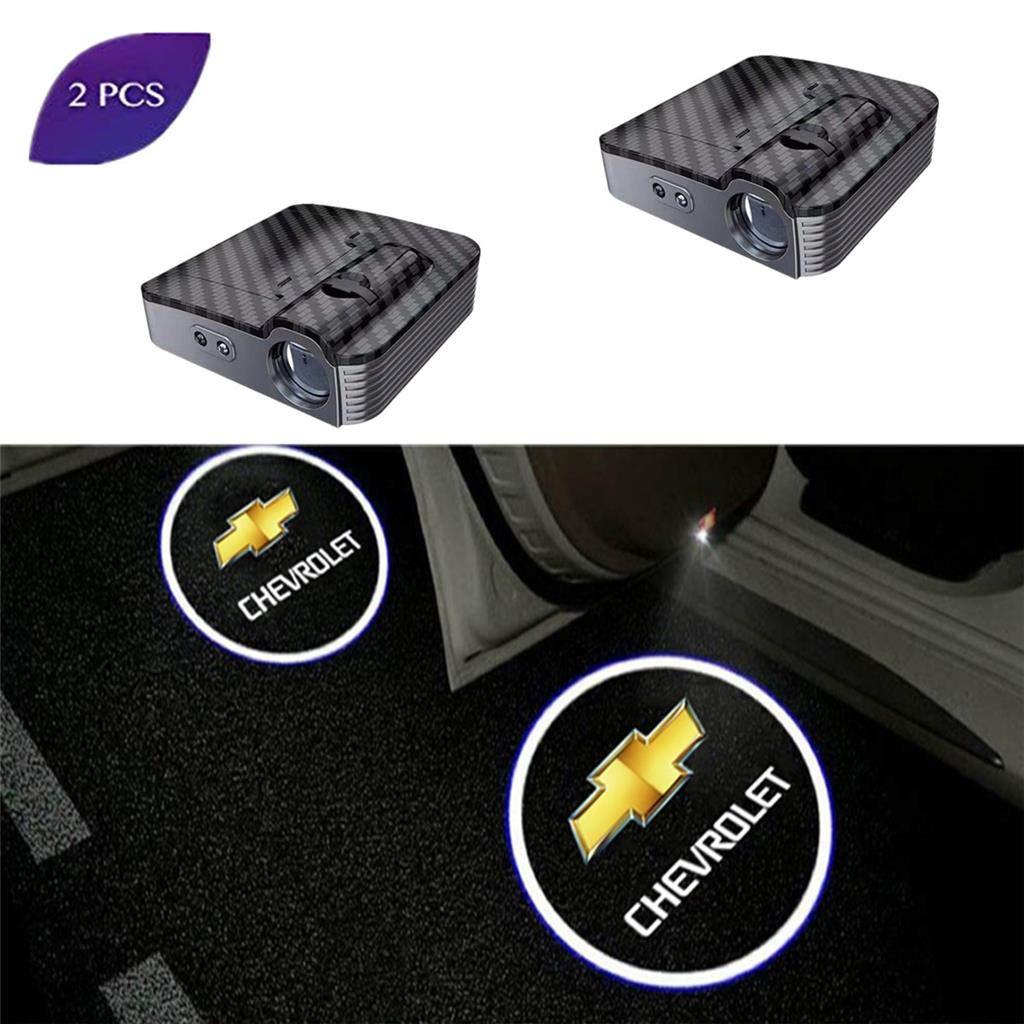 2Pcs Car LED Logo Projector Porta Ghost Shadow Light Lampada per la luce di benvenuto logo illuminazione di Porta proiezione portiera