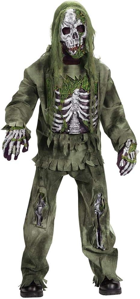 Horror-Shop Esqueleto Zombie Deluxe Disfraz De Niño S: Amazon.es ...